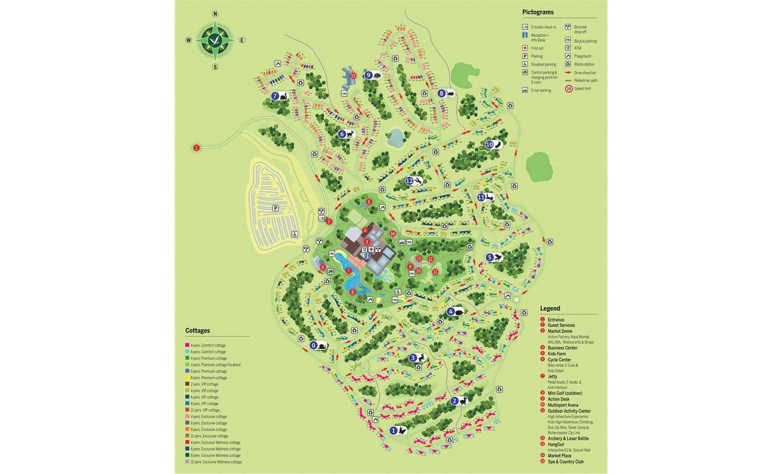 Village Map Of Center Parcs Park Allgau Parkexplorer