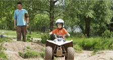Quad biking kids at Center Parcs Bispinger Heide