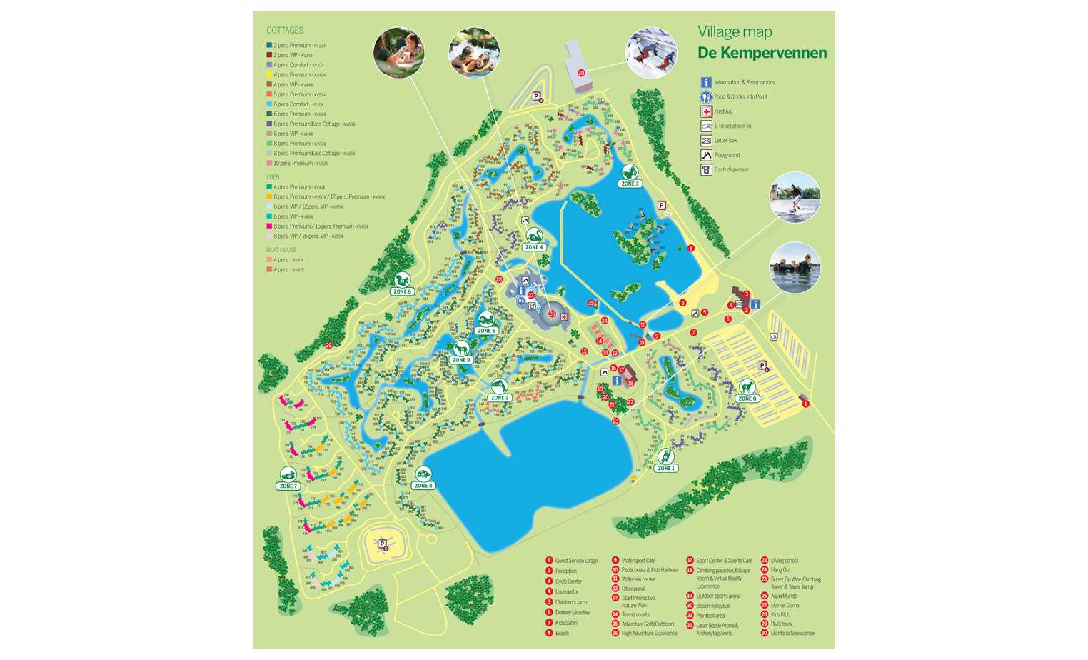 PX] Village map of Center Parcs De Kempervennen - ParkExplorer.com on