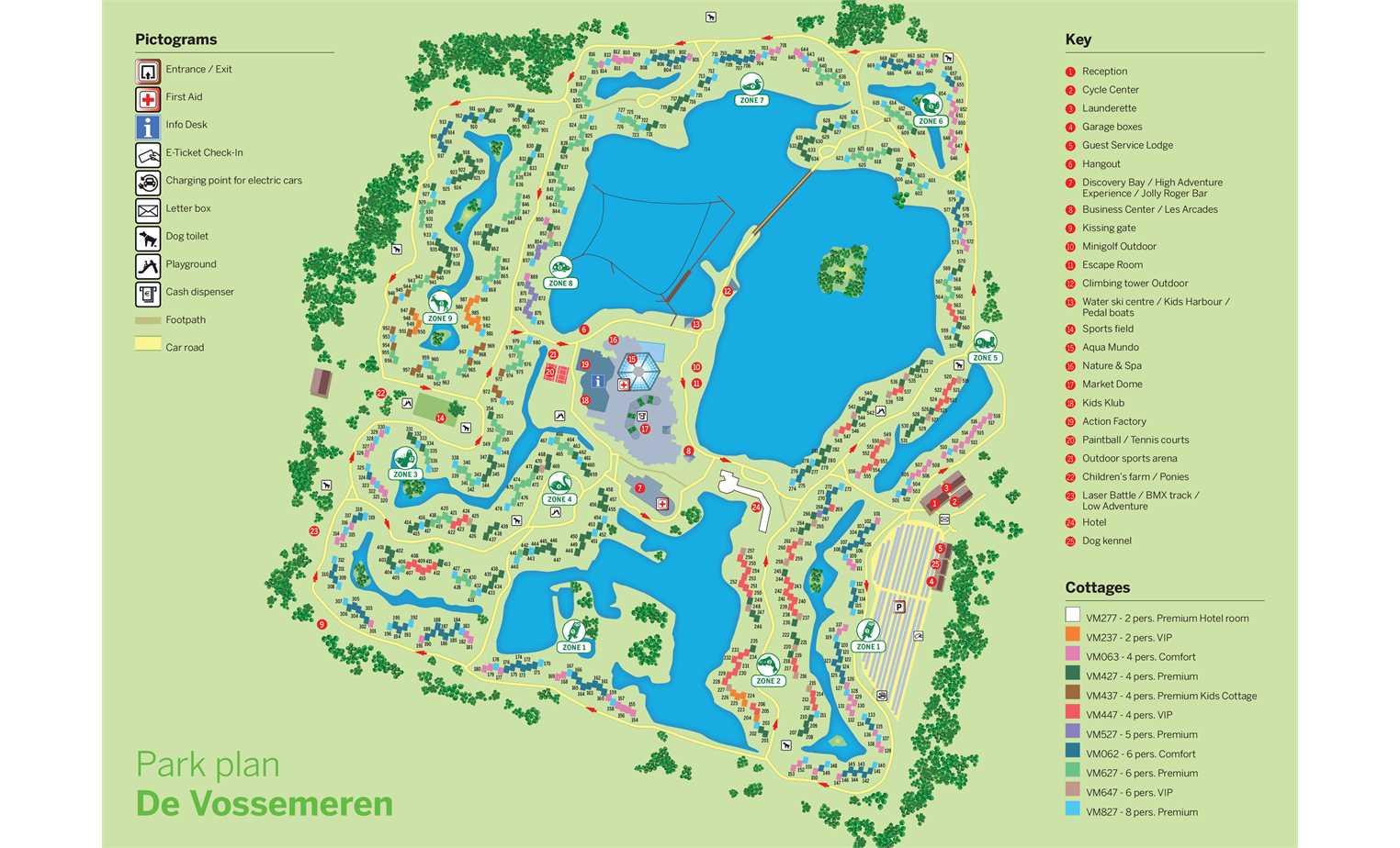 PX] Village map of Center Parcs De Vossemeren - ParkExplorer.com