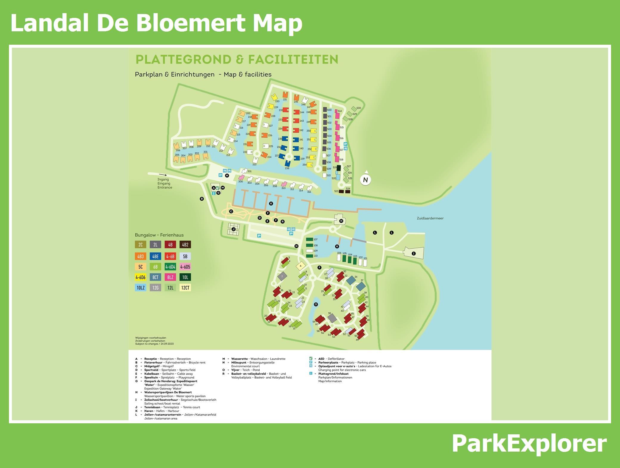 Px Village Map Of Landal De Bloemert Parkexplorercom